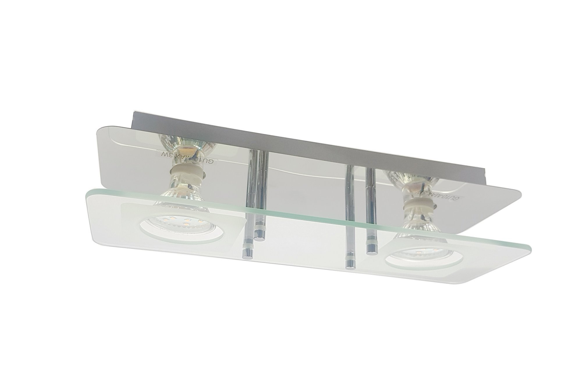 Ceiling Light Briloner Vitreo 3513-028 2x GU10 3W