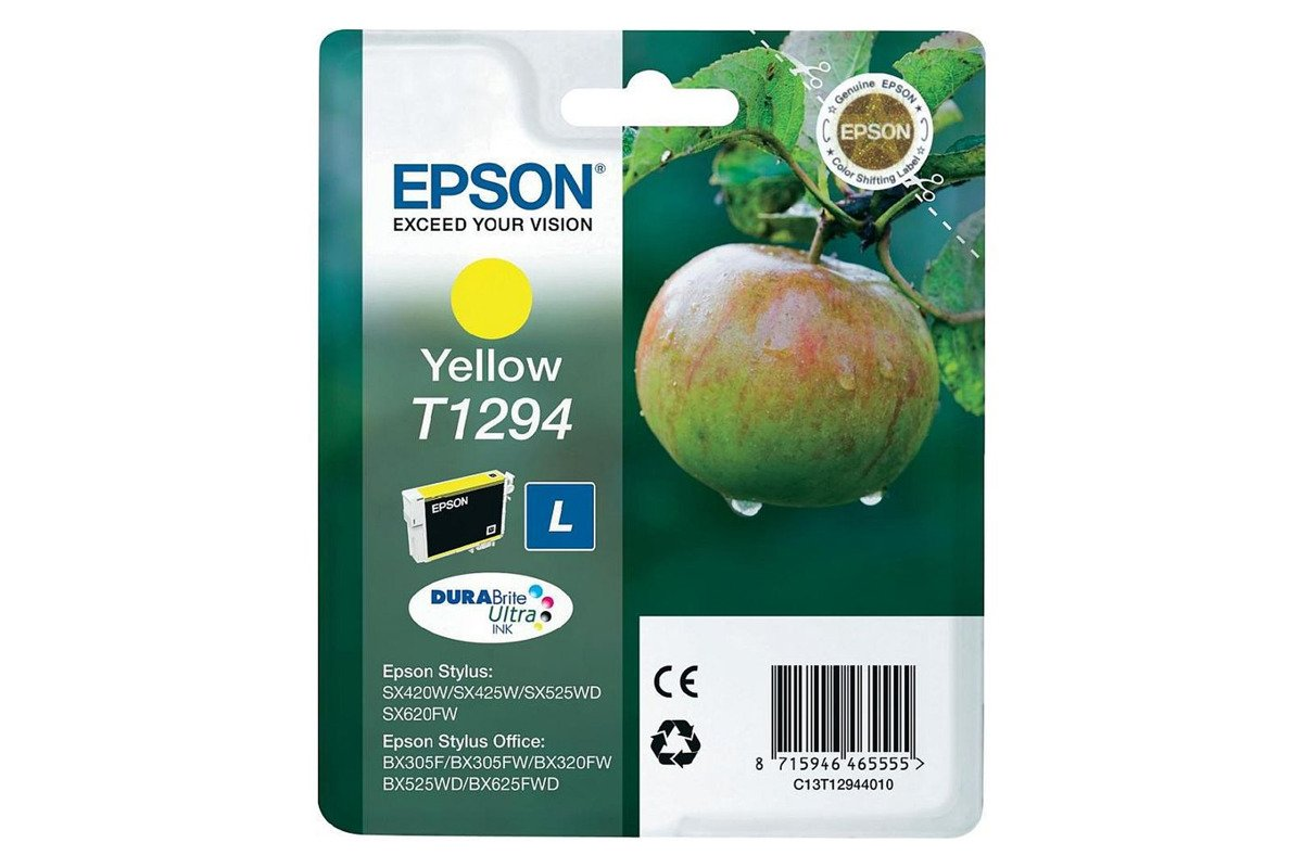 Genuine Ink Cartridge Epson T1294 C13T12944011 Yellow
