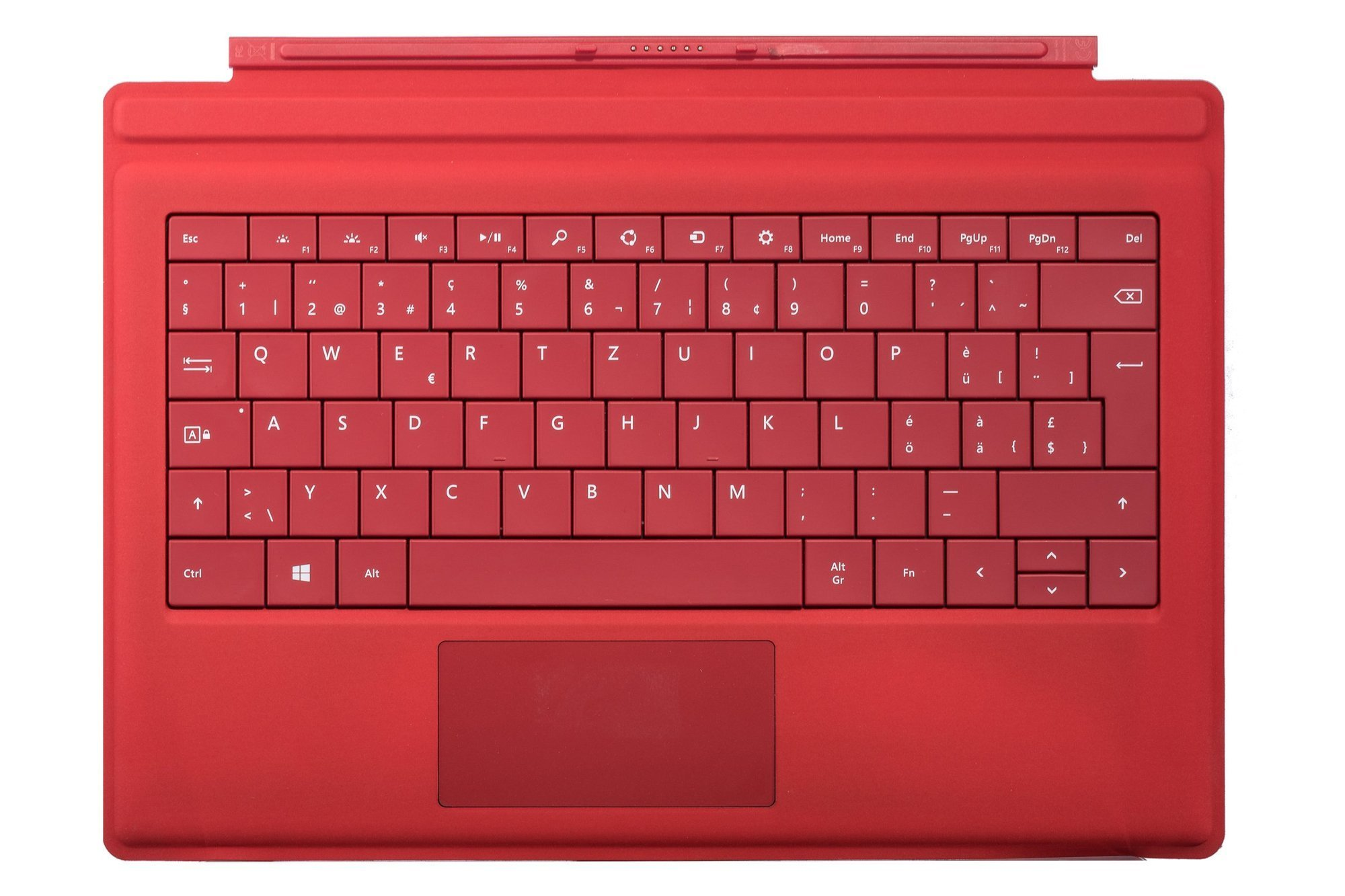Keyboard Microsoft Surface Type Cover Pro 3 Red QWERTZ (Swiss) Grade B