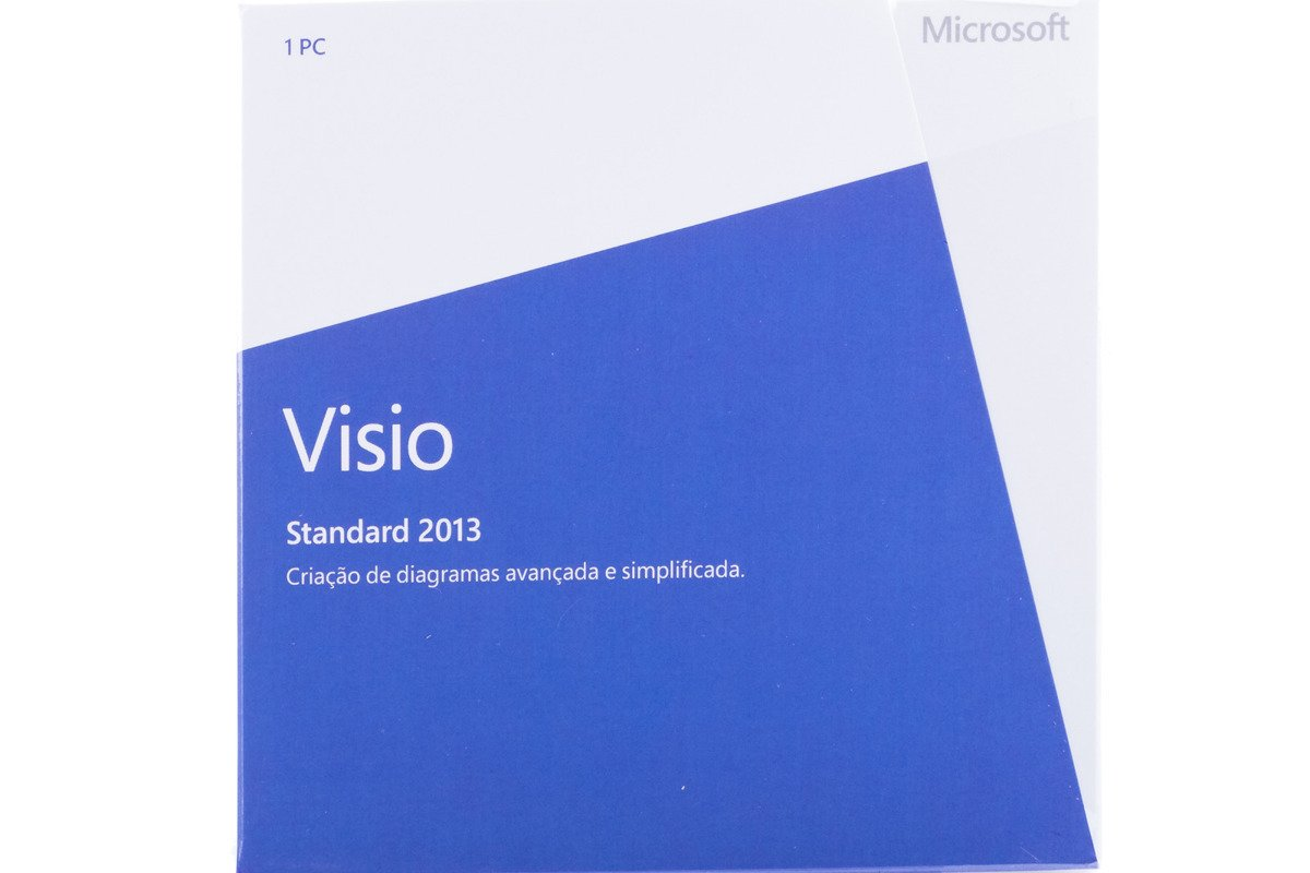 New Genuine Microsoft Visio Standard 2013 BOX D86-04923 Portuguese Africa Only