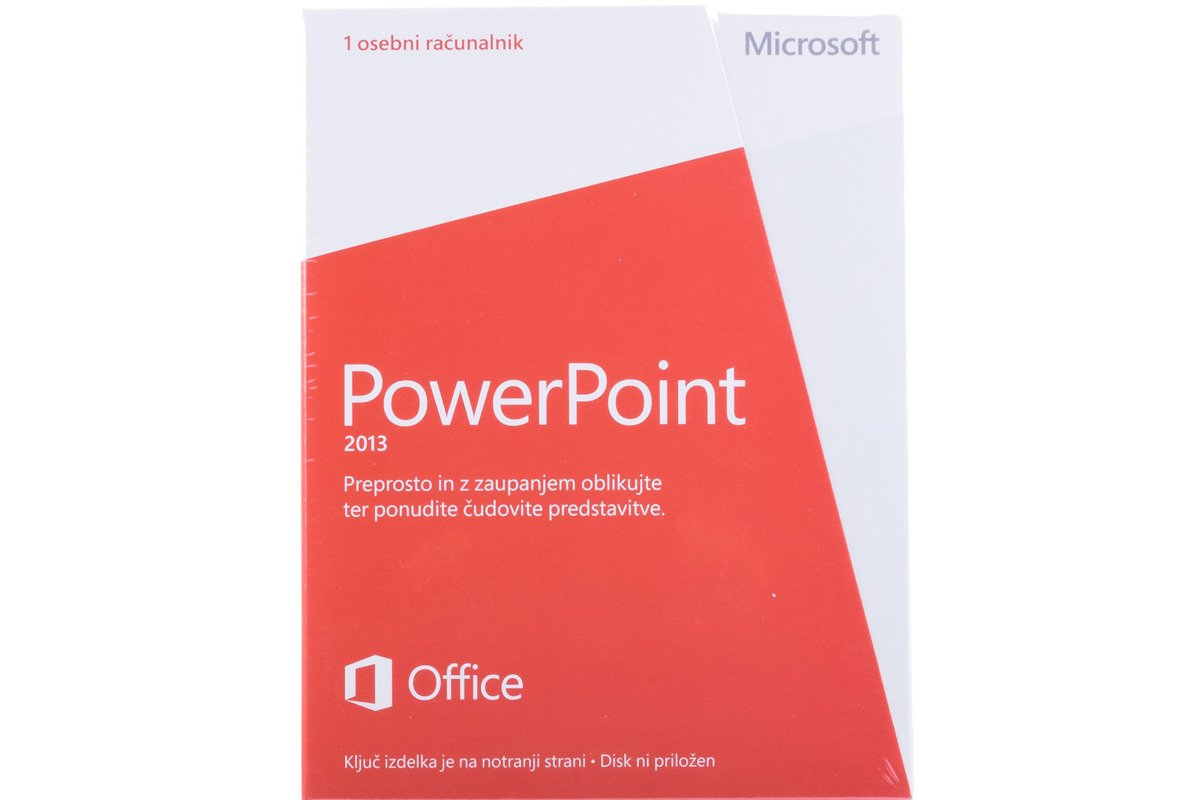 New Microsoft PowerPoint 2013 079-05918 Slovenian Medialess Eurozone
