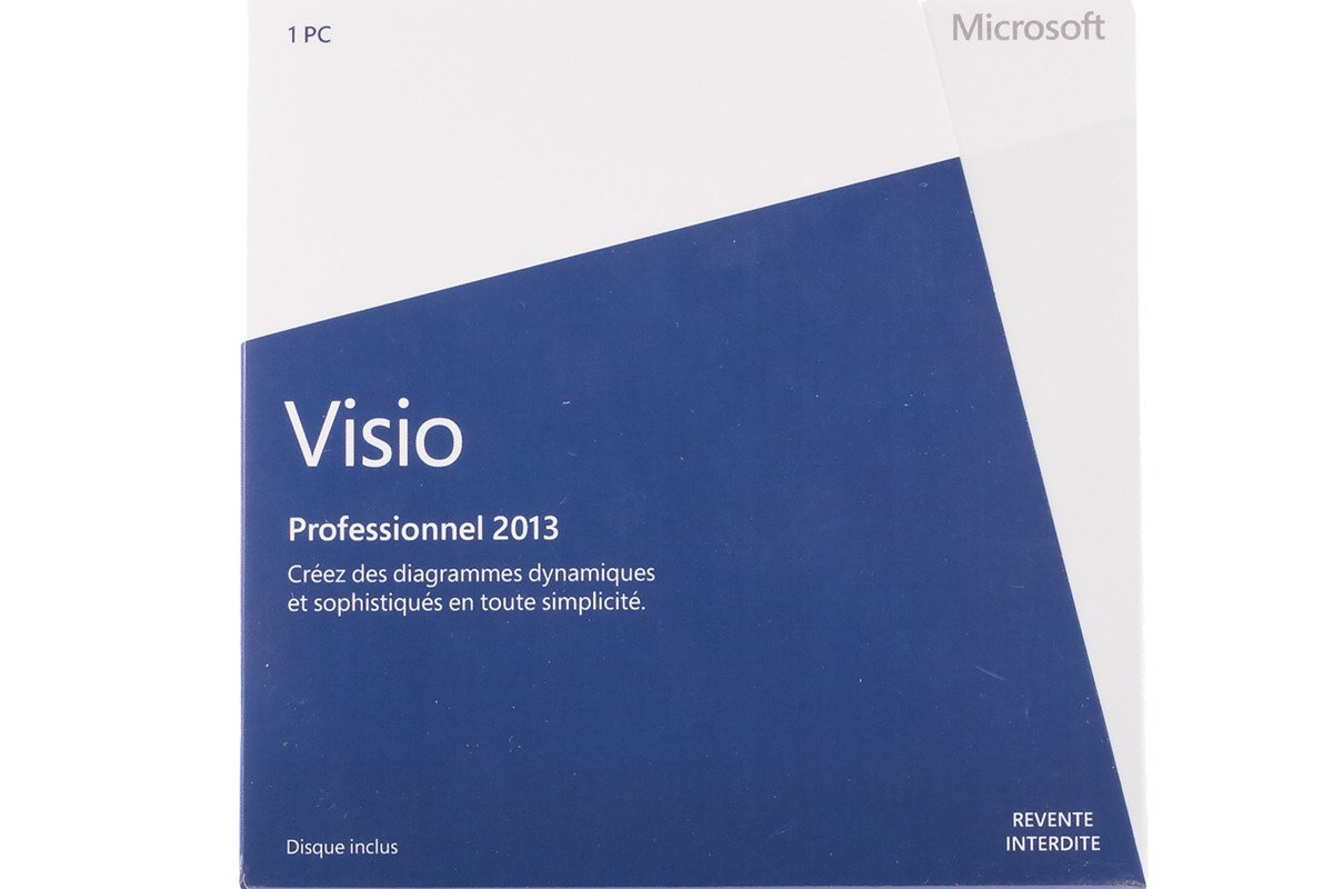 New Microsoft Visio Professional 2013 D87-05381 Medialess Eurozone DVD NFR