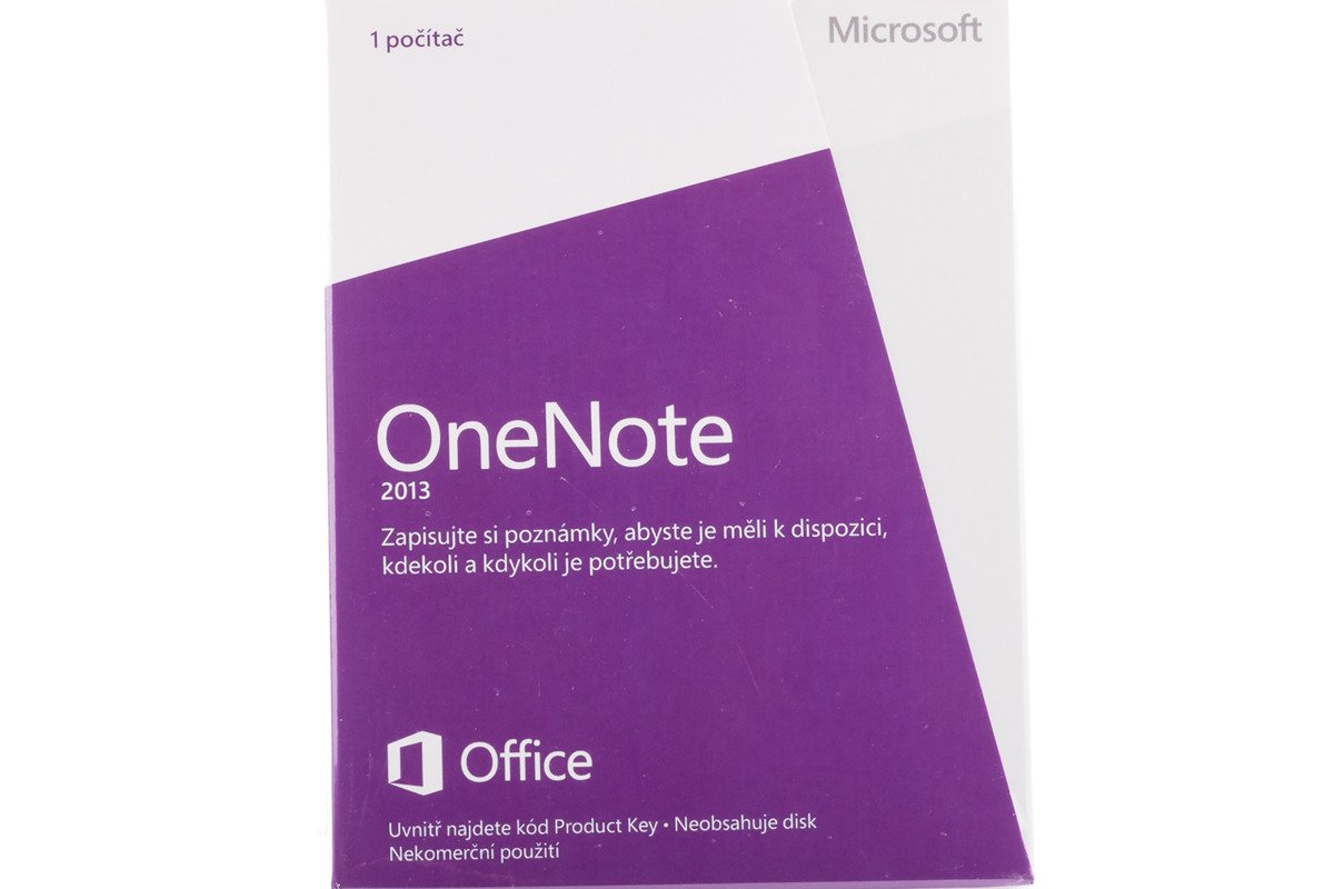 New Sealed Original OneNote 2013 S26-05126 Czech Medialess Eurozone