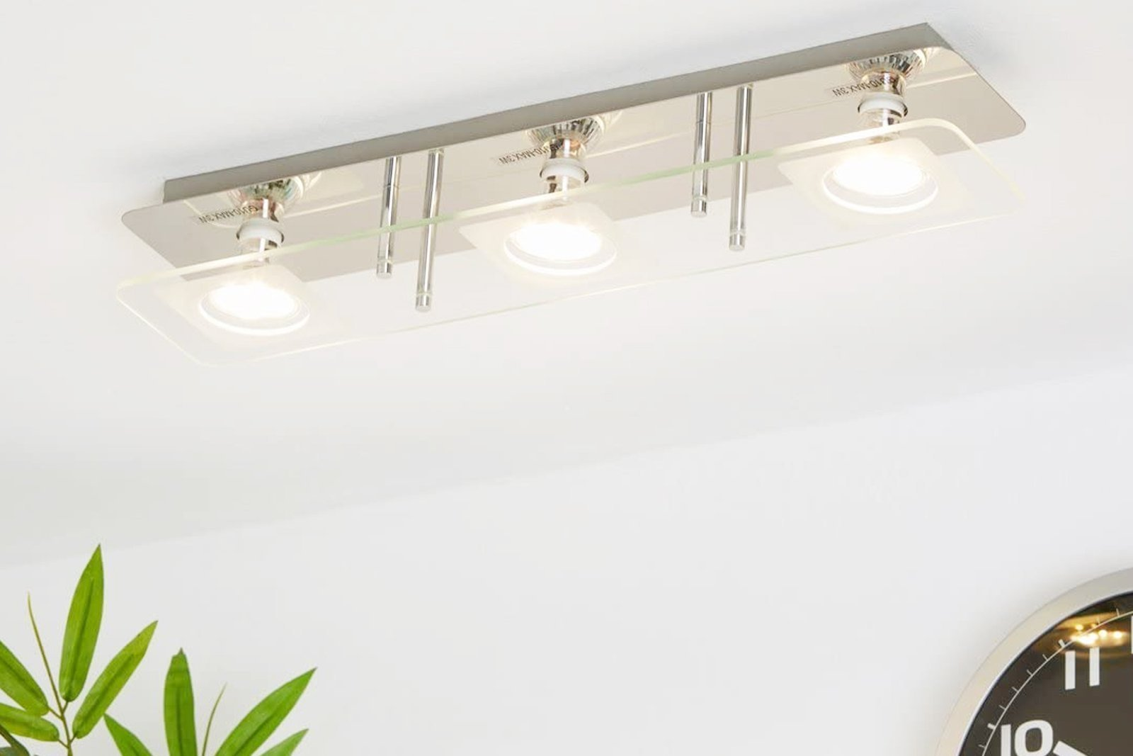 Ceiling Light Briloner Vitreo 3513-038 3x GU10 3W