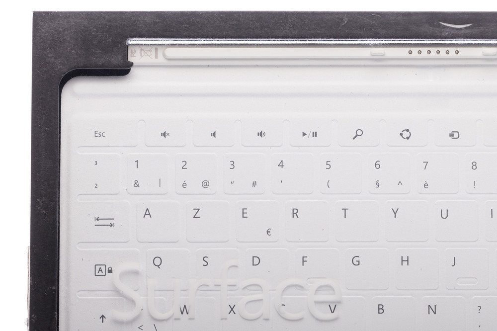 Keyboard Microsoft Surface Touch Cover 1 White (French) AZERTY