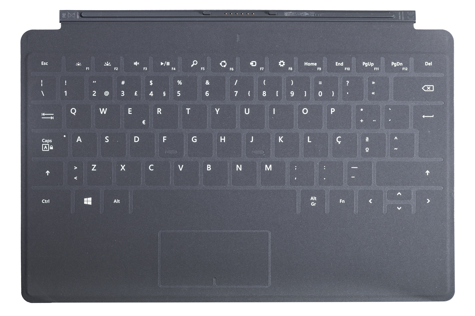 Keyboard Microsoft Surface Touch Cover 2 Black QWERTY (Portuguese) Grade A