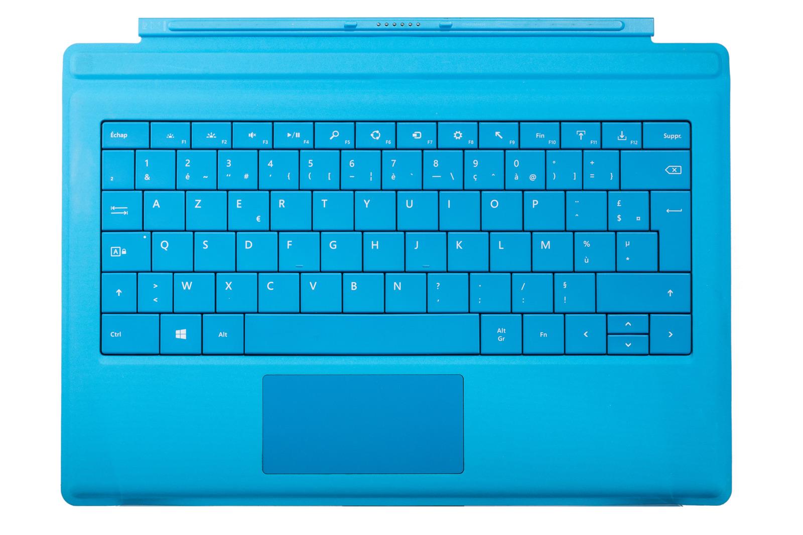 Keyboard Microsoft Surface Type Cover Pro 3 Cyan AZERTY (French) Grade B