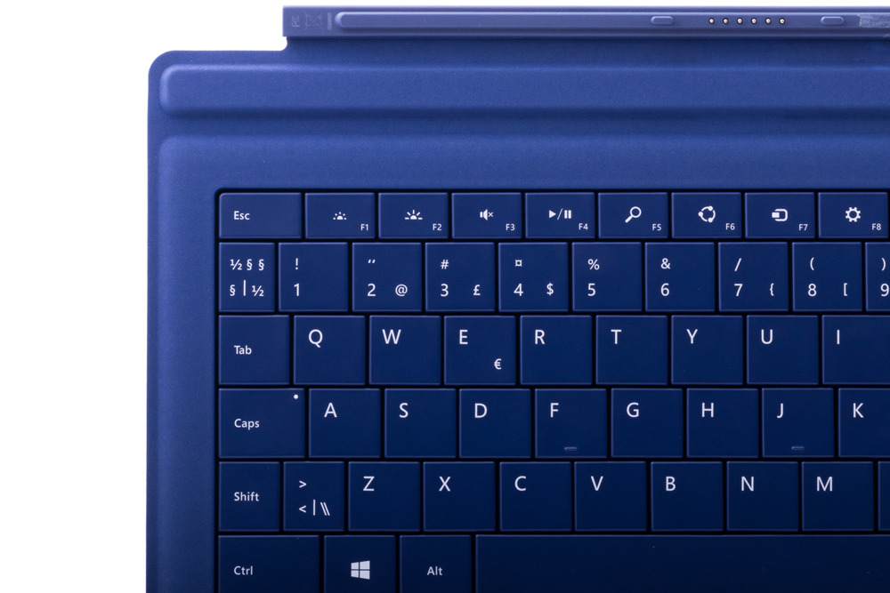 Keyboard Microsoft Surface Type Cover Pro 3 Dark blue QWERTY (Nordic) Grade A