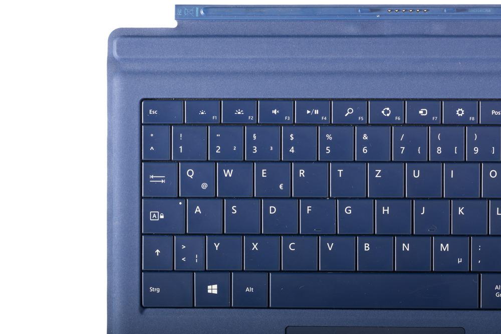 Keyboard Microsoft Surface Type Cover Pro 3 Dark blue QWERTZ (German) Grade B