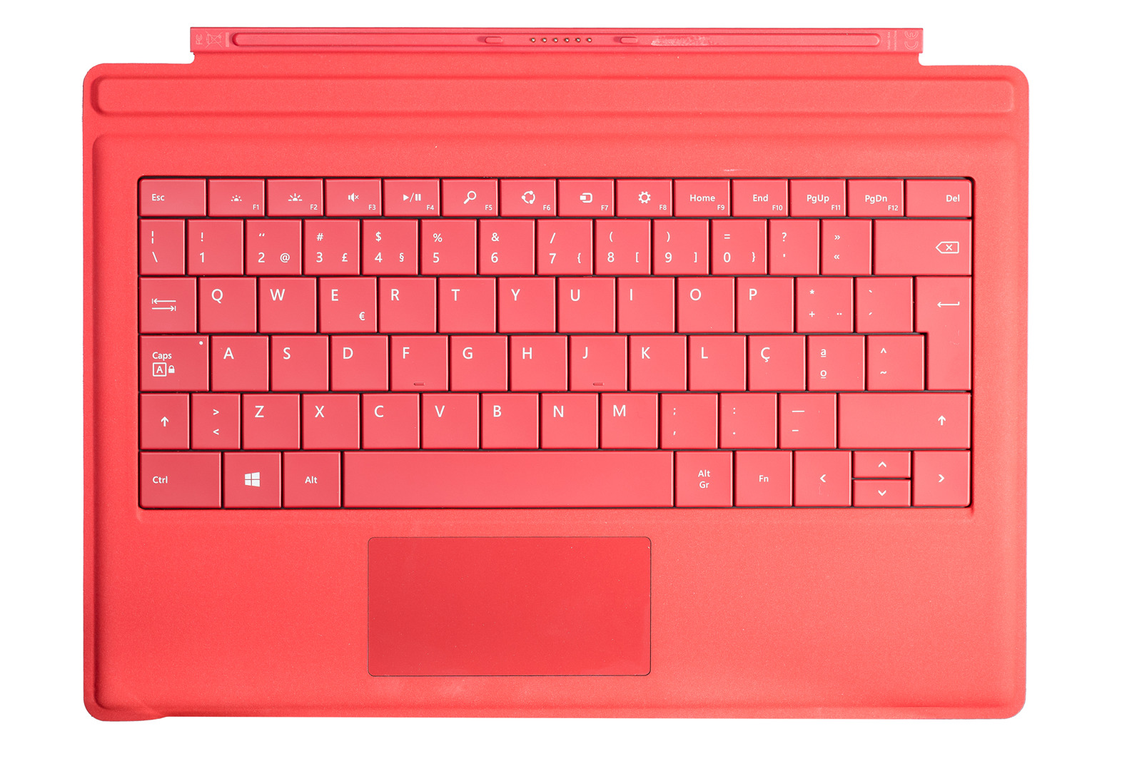 Keyboard Microsoft Surface Type Cover Pro 3 Red QWERTY (Portuguese) Grade A
