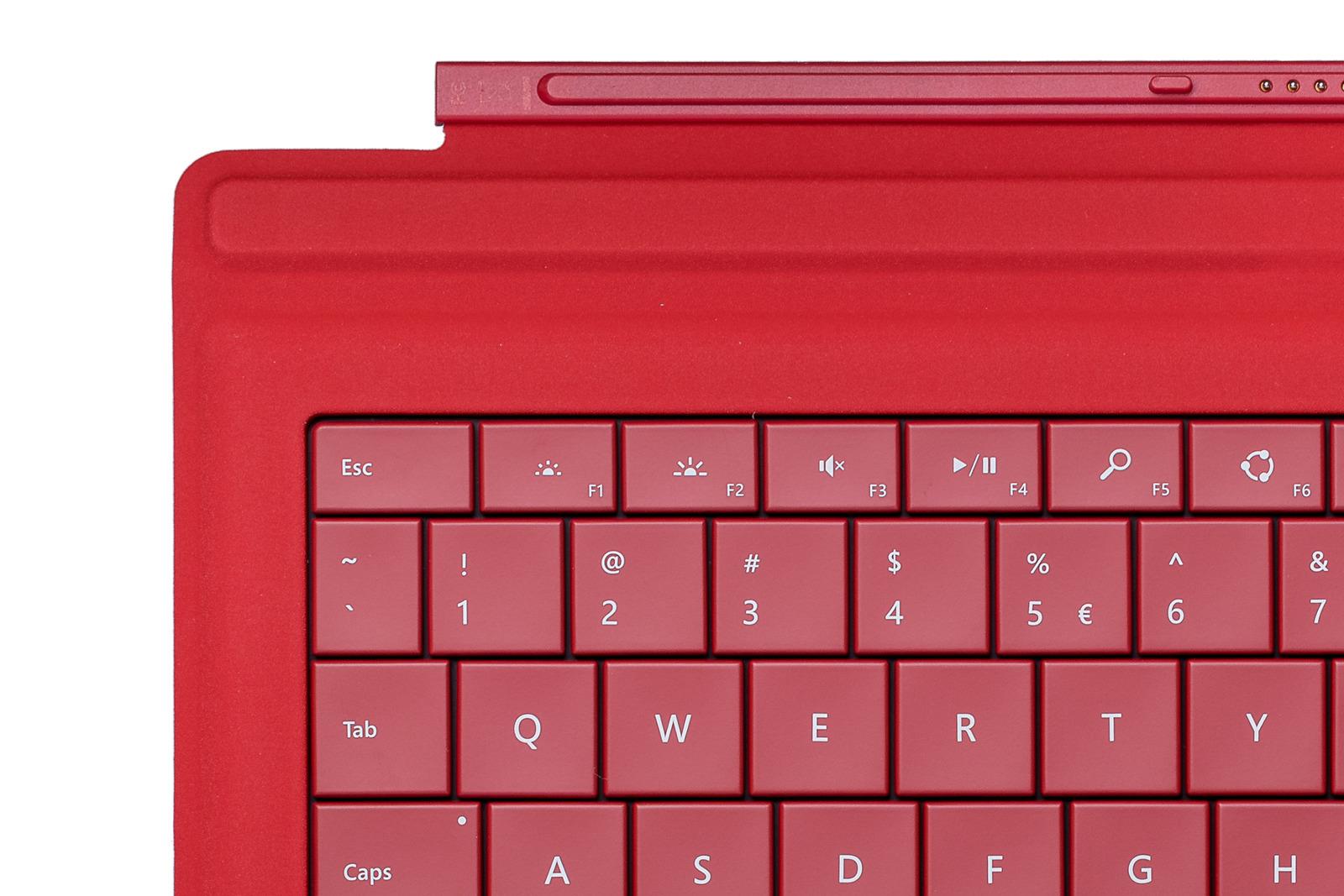 Keyboard Microsoft Surface Type Cover Pro 3 Red QWERTY (UK105) Grade B