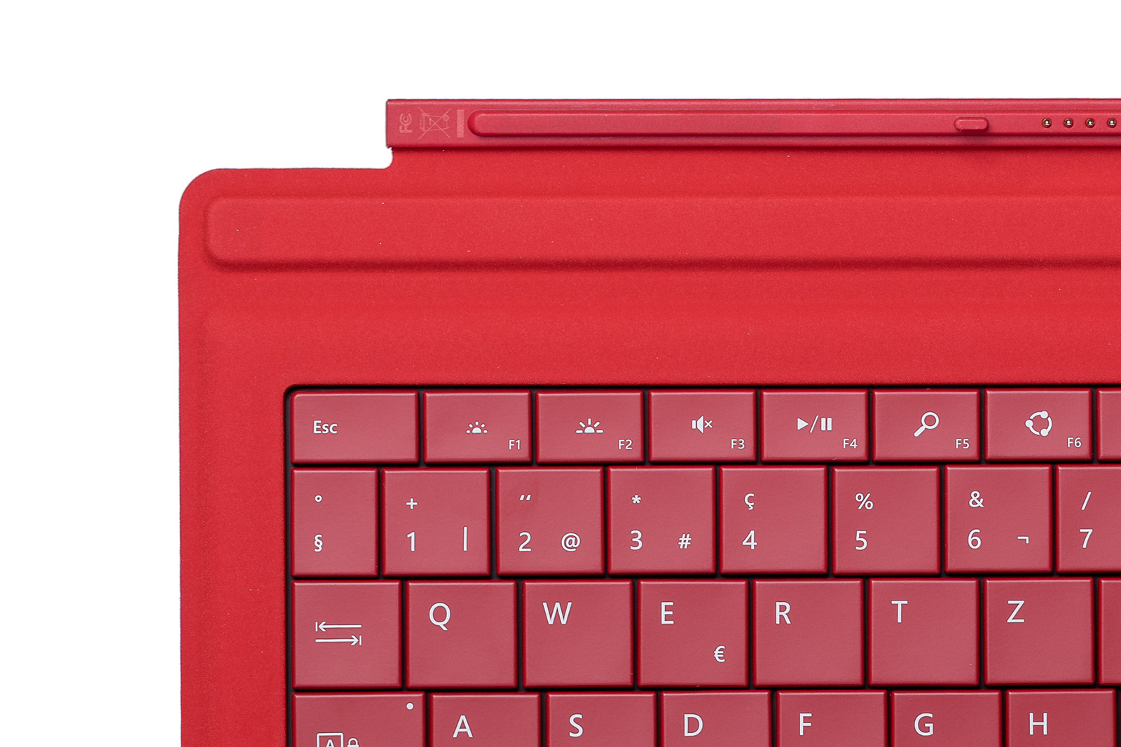 Keyboard Microsoft Surface Type Cover Pro 3 Red QWERTZ (Swiss) Grade A