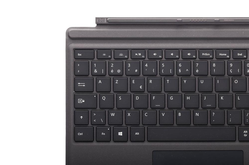 Keyboard Microsoft Surface Type Cover Pro 4 Black AZERTY (Belgian) Grade B