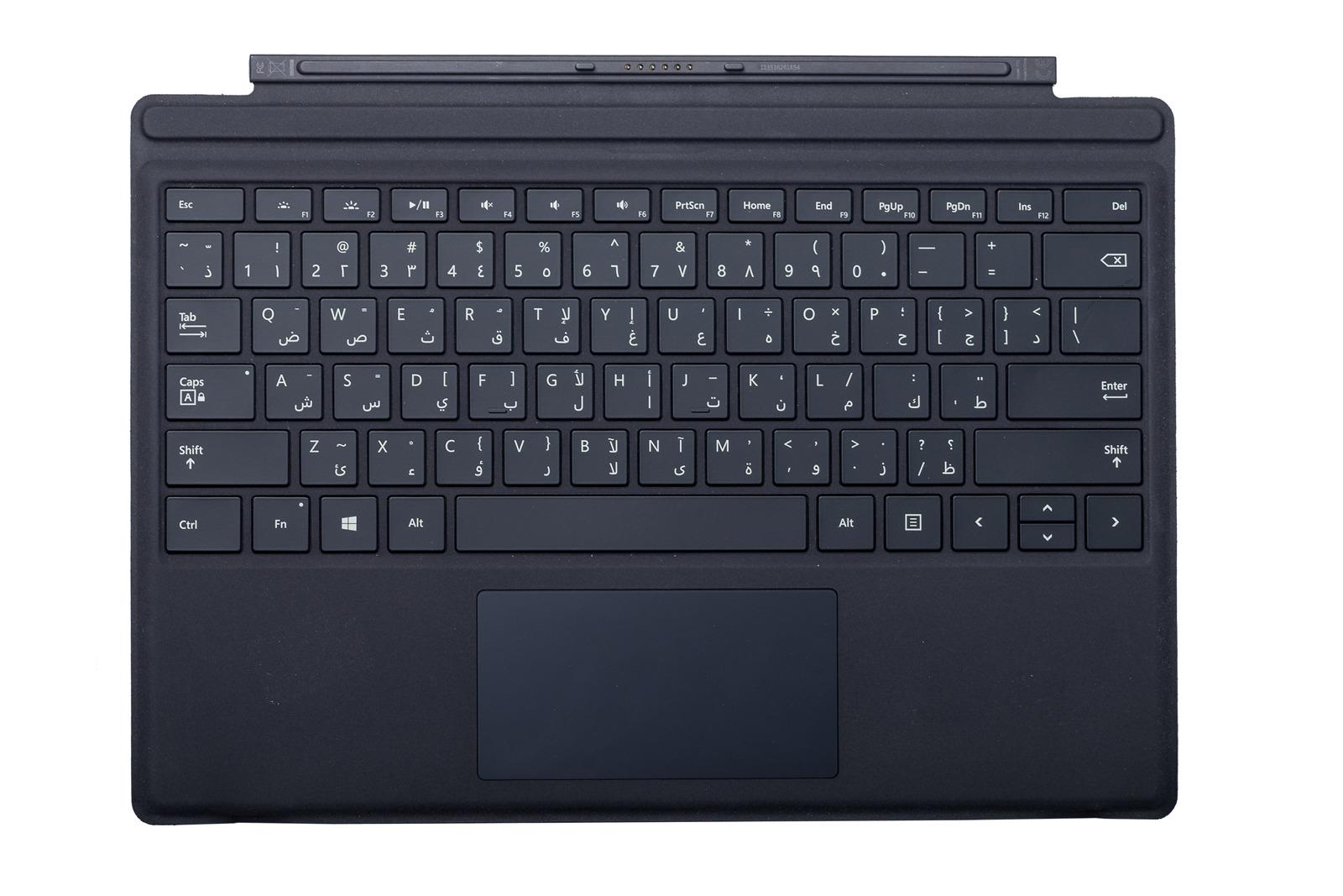 Keyboard Microsoft Surface Type Cover Pro 4 Black QWERTY (Arabic) Grade B