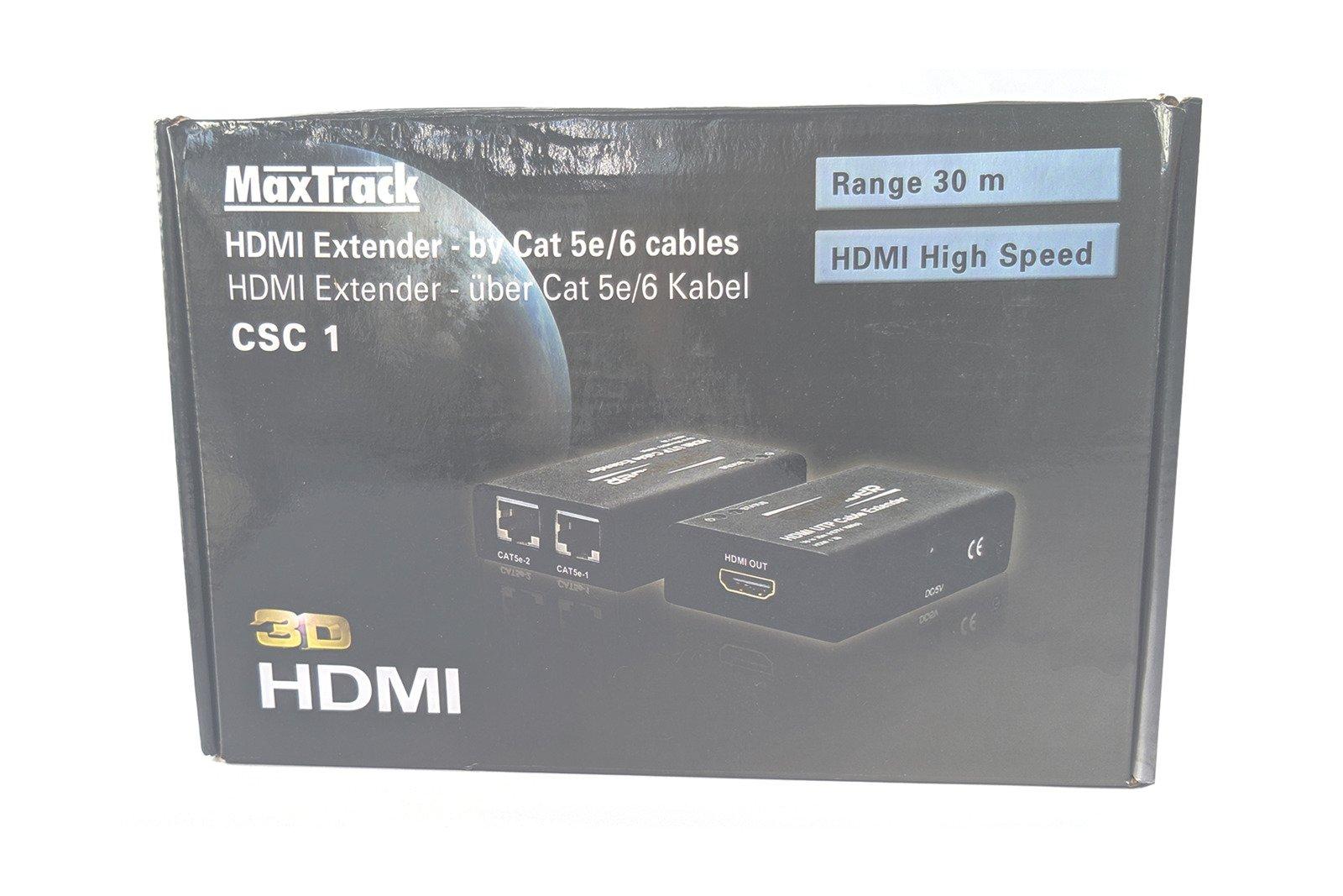 MaxTrack CSC1L High Speed HDMI Extender 30m