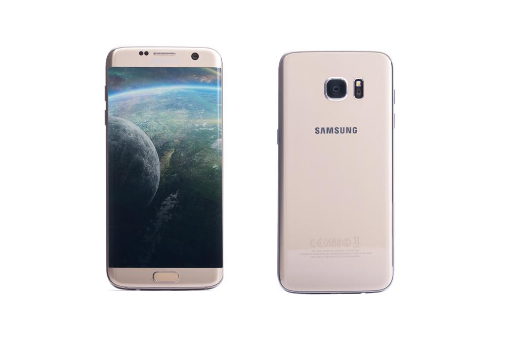Samsung Galaxy S7 Edge Gold Platinum SM-G935F Grade B replacement box