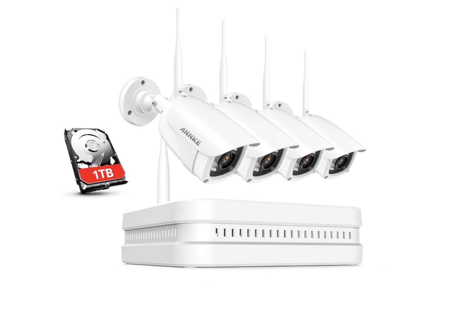 Set for monitoring Sannce N48WHP1T I4GD * + 4 HD H.264 PoE