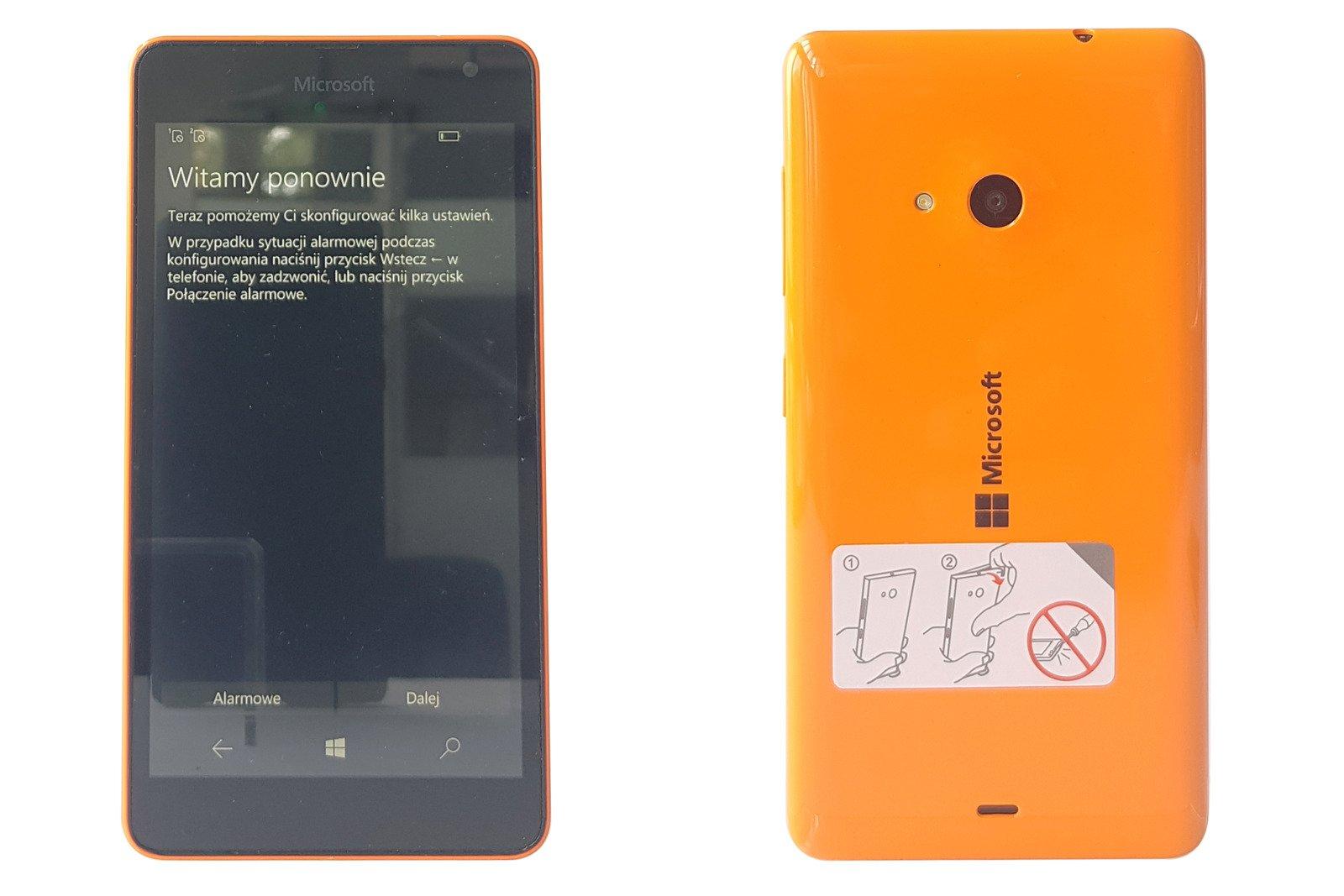 Smartphone Microsoft Lumia 535 DualSIM Orange RM-1089